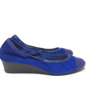 Cole Haan Rpyal Blue Wedge Heels Suede Leather 9B